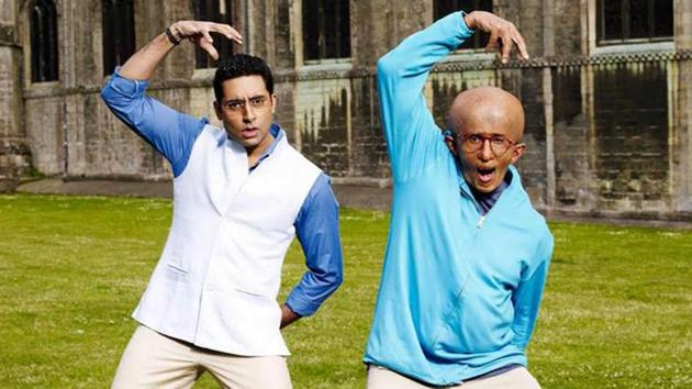 Abhishek Bachchan played Amitabh Bachchan's father in Paa.