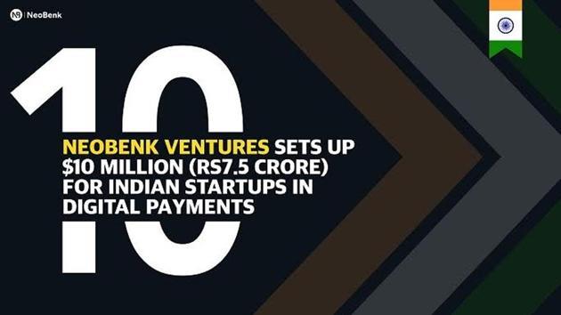 NeoBenk Ventures Sets up $10 Million (Rs7.5 Crore) for Indian Startups in Digital Payments.(NeoBenk)
