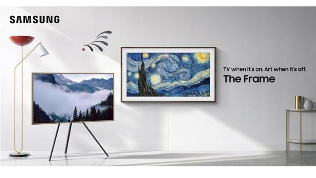 The Frame TV, as the name suggests, has been made to resemble a frame. When it's switched off, it looks like an art piece on your wall.(Samsung)