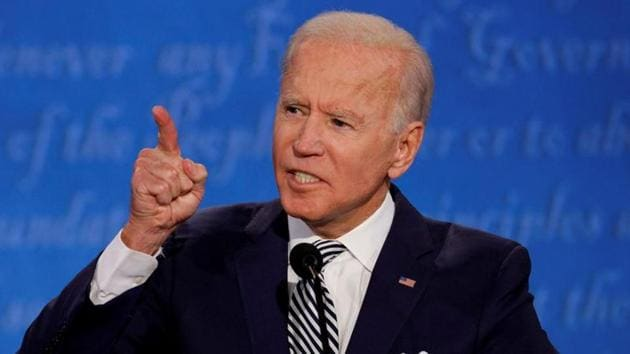 Democratic presidential nominee Joe Biden speaks as he participates in the first 2020 presidential campaign debate on September 29, 2020. R(Reuters File Photo)