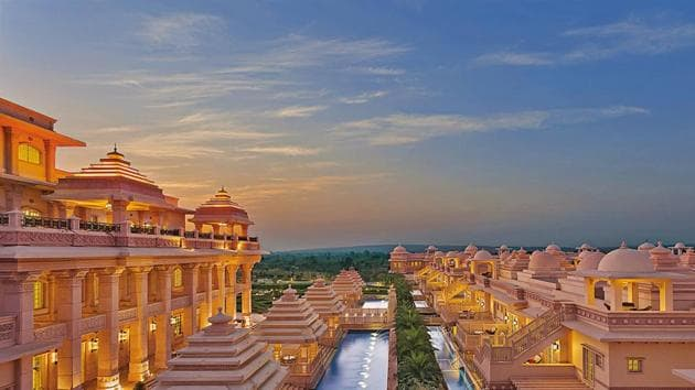 The ITC Grand Bharat is an all-suite property within driving distance of New Delhi