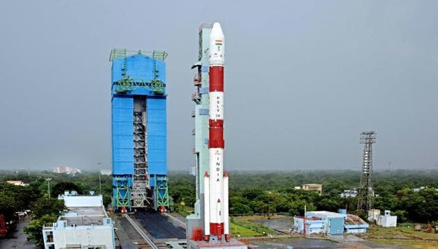 In this photo provided by Isro, India's Polar Satellite Launch Vehicle (PSLV) C-49 which lofted off EOS-01 as primary satellite and nine other international commercial satellites onboard from Satish Dhawan Space Centre (SDSC), in Sriharikota, Wednesday, Nov. 4, 2020 (PTI Photo)(PTI)