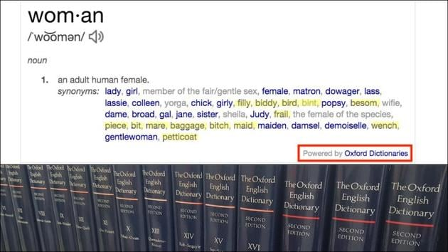 Oxford Dictionary amends definition of 'woman' after massive criticism on sexist reference(Twitter/BBMbreaksthru/OED)