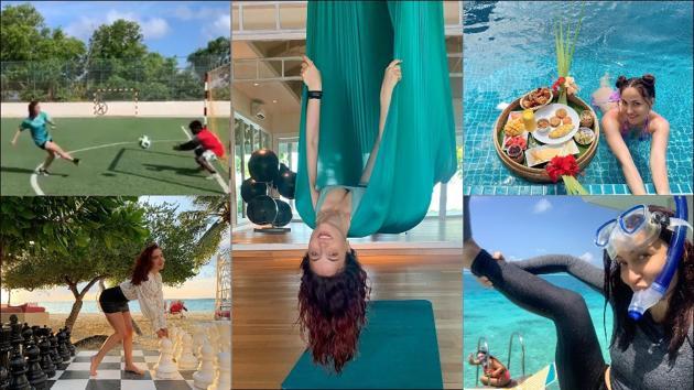 Elli AvrRam's first Maldives trip is sure to kick in your travel bug, amp up fitness goals(Instagram/elliavrram)