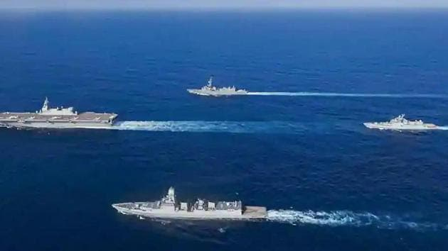 "The 24th multinational maritime naval exercise, which started on November 3, was restricted to sea phase and conducted in ""zero contact"" format considering Covid-19 pandemic.(PTI)"