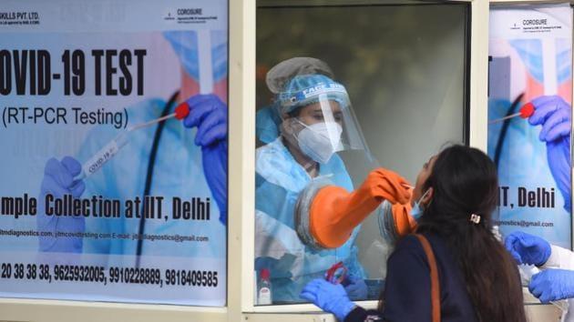 Delhi on Sunday recorded the highest single-day spike of 7,745 new cases of the coronavirus disease.(Raj K Raj/HT Photo)