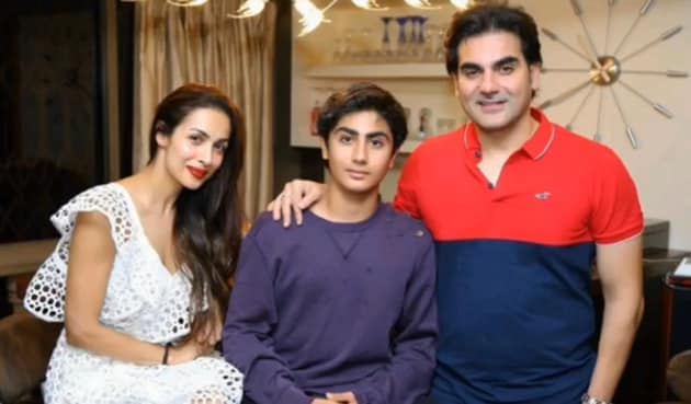 Malaika Arora and Arbaaz Khan with their son, Arhaan, in a still from the video.