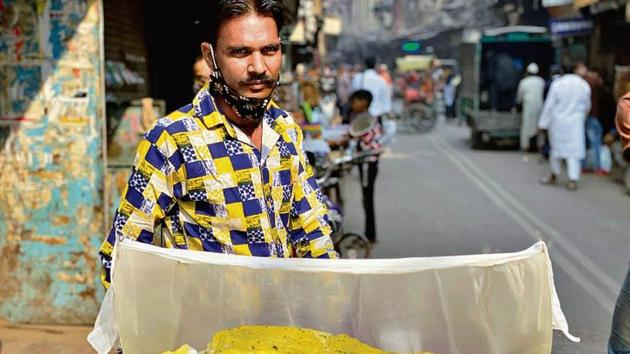 Roaming about in Galli Chooriwallan, Sanjay Kumar explains he is from Chandausi in UP.