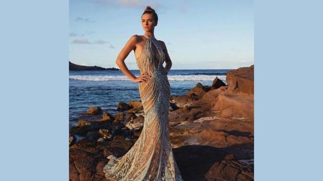 Lyla Dumont's Couture dresses are all hand embroidered with Japanese cut glass beads, Swarovski rhinestones and a variation of different traditional embroidery techniques, while her ready to wear pieces are only made of natural, sustainable fabrics.