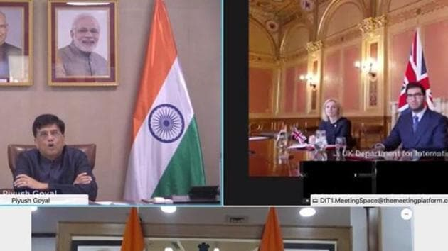 The two sides are not yet ready for a free trade agreement (FTA), though the enhanced trade partnership launched by commerce minister Piyush Goyal and UK secretary of state for international trade Elizabeth Truss on Monday is a step in that direction.(TWITTER/@PiyushGoyal.)