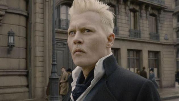 Johnny Depp as Gellert Grindelwald in the Fantastic Beasts series.
