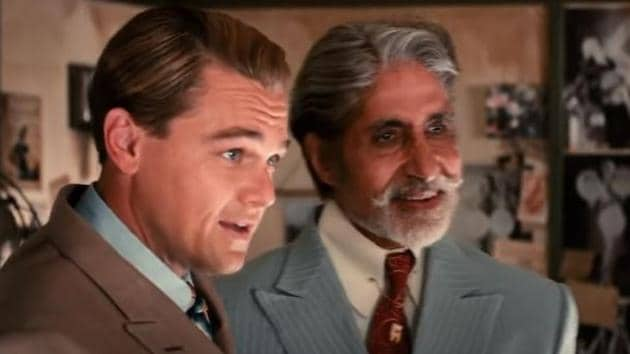 Amitabh Bachchan and Leonardo DiCaprio in a still from The Great Gatsby.