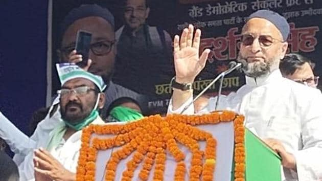 All India Majlis-e-Ittehadul Muslimeen (AIMIM) president Asaduddin Owaisi has been trying to create party base in Bihar.(HT Photo)