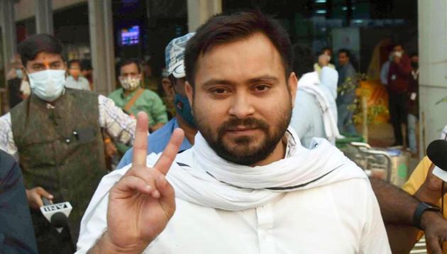 RJD leader Tejashwi Yadav.(Santosh Kumar/ Hindustan Times)