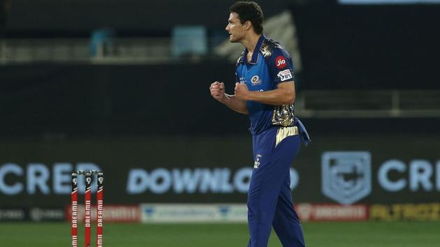 IPL 2020: Nathan Coulter Nile used his variations to great effect.(IPL/Twitter)