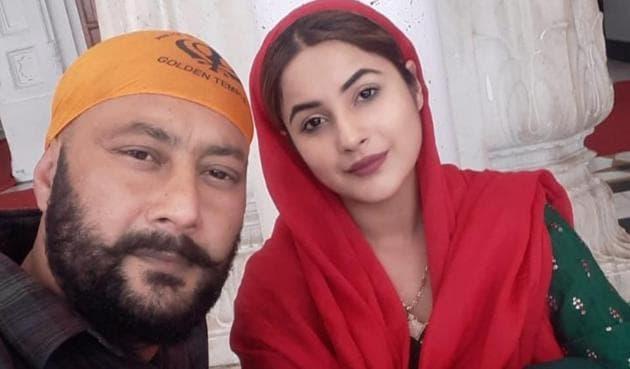 Shehnaaz Gill with her father Santosh Singh Sukh.