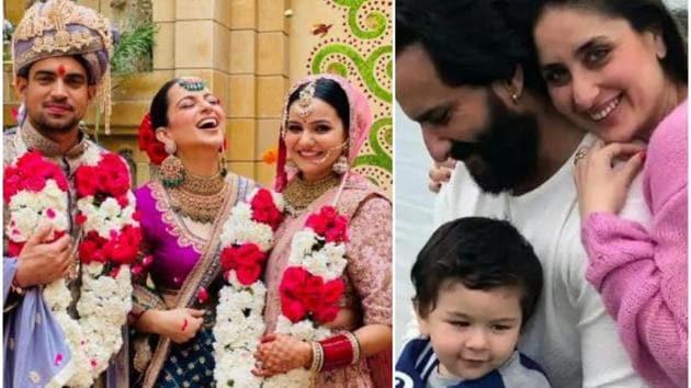 Kareena Kapoor has said that this Diwali, her son Taimur and she would join Saif Ali Khan in Dharamshala. Kangana Ranaut's brother Aksht got married to Ritu in Udaipur.