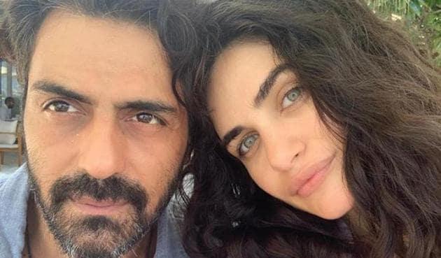 Arjun Rampal with his girlfriend Gabriella Demetriades.
