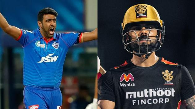 File images of R Ashwin and Virat Kohli(Twitter/IPL)