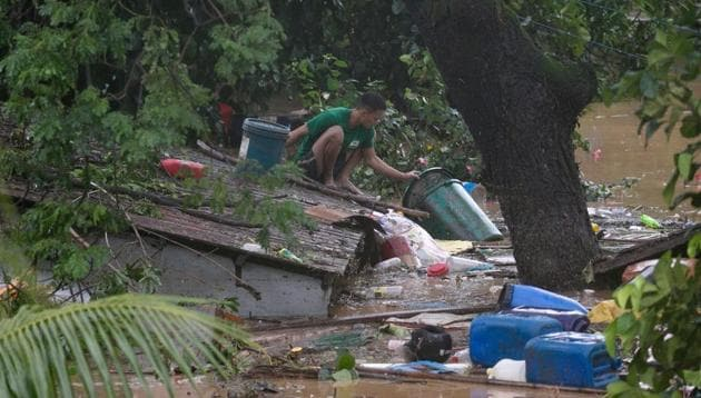 Flooding in 32 villages and a few landslides were already reported on Wednesday from the typhoon, and disaster officials said a man died and three other people were missing, without immediately providing details.(Reuters Photo)