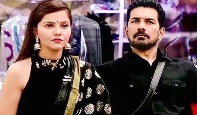 Rubina Dilaik and Abhinav Shukla in Bigg Boss 14.