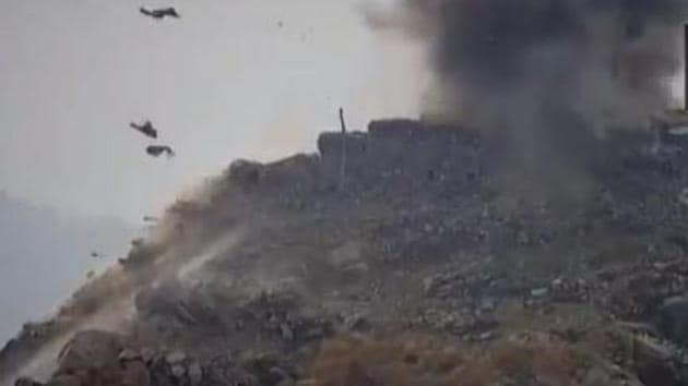 Apart from various places in Uri (in photo), the ceasefire violations were reported from Izmarg in Gurez sector of Bandipora district and Keran sector of Kupwara district. (Videograb/ANI)