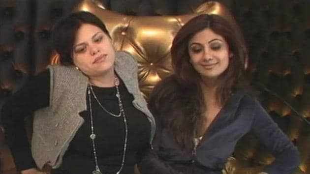 Shilpa Shetty and Jade Goody on Big Brother.