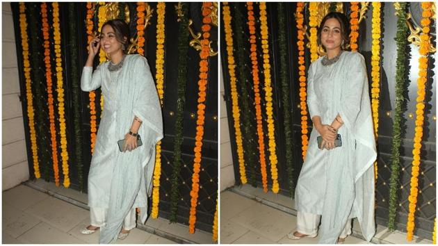 Hina Khan at the party.