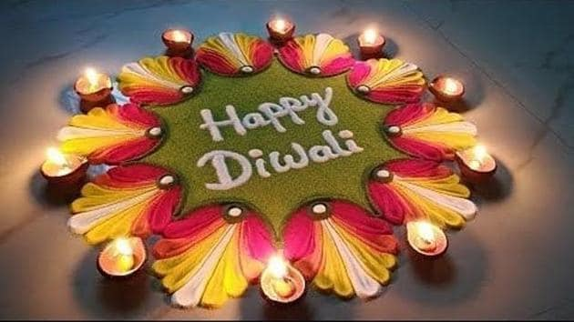 The rangoli is central to the decoration for Diwali.(Instagram)