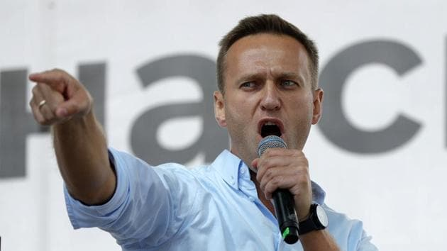 Russian opposition activist Alexei Navalny.(AP file photo)