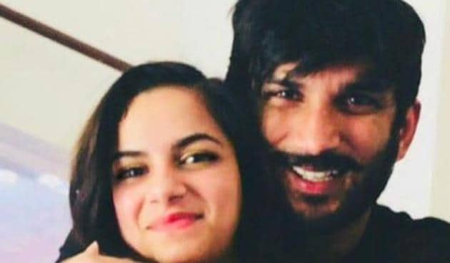 Sushant Singh Rajput's niece Mallika Singh in a throwback picture with the actor.