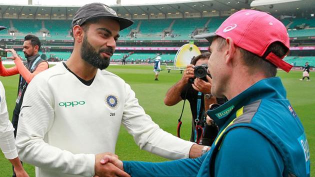 Virat Kohli shakes hands with Justin Langer(Getty Images)