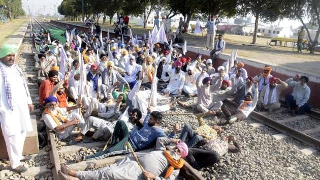 Farmers in Punjab have been protesting against the three agriculture laws.(Sameer Sehgal/HT Photo)