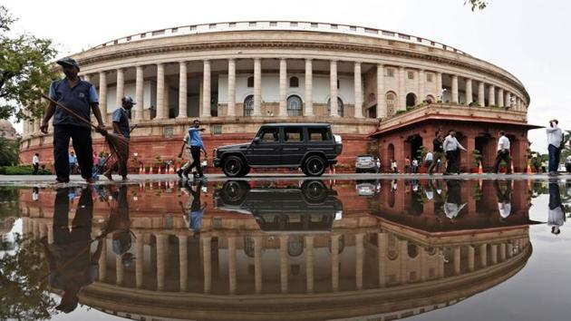 The existing circular building, completed in 1927, is most famous for its 144 columns but it too has some recognisable Indian touches.(REUTERS)