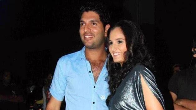 Yuvraj Singh and Sania Mirza(Yuvraj Singh/Twitter)