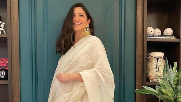 A pregnant and glowing Anushka Sharma shared her Diwali look.