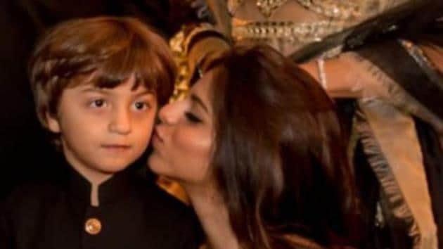 Suhana Khan with brother AbRam.