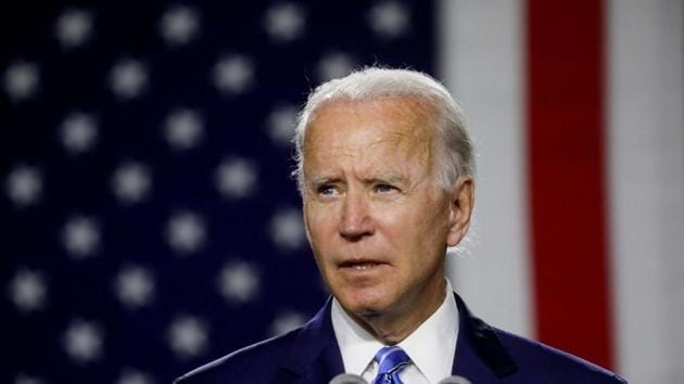US president- elect Joe Biden speaks at an event about modernizing infrastructure and his plans for tackling climate change in Wilmington, Delaware.(Reuters)