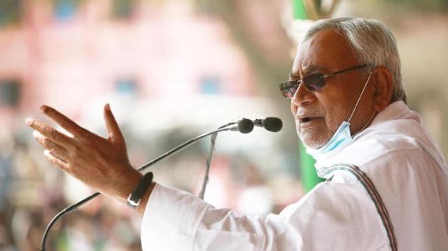 Janata Dal (United) chief Nitish Kumar.(HT photo)
