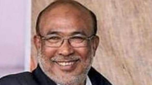 Manipur chief minister N Biren Singh said he is fine after he tested positive for Covid-19.(PTI Photo)