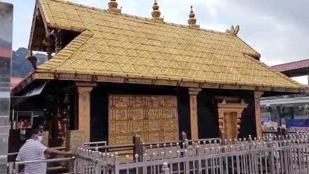 The Lord Ayyappa temple at Sabarimala in Kerala opened for the two-month-long annual pilgrimage season on Sunday evening.(ANI photo)