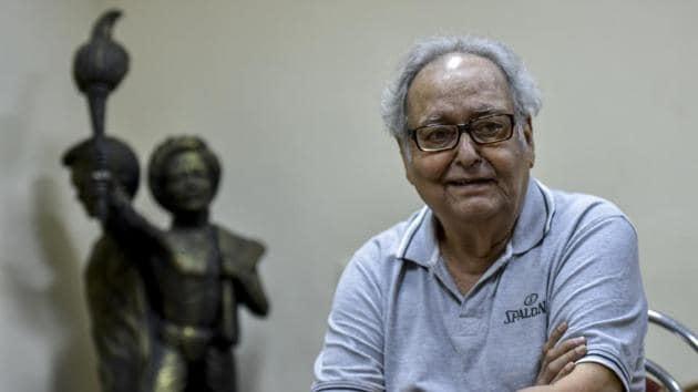 Bengali actor Soumitra Chatterjee died in Kolkata on Sunday.(Kunal Patil/HT Photo)