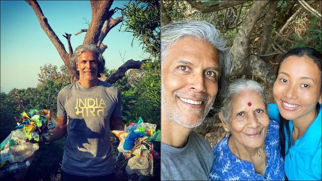 Milind Soman's plogging trek to Shiva temple with family is our new travel goal(Instagram/milindrunning)