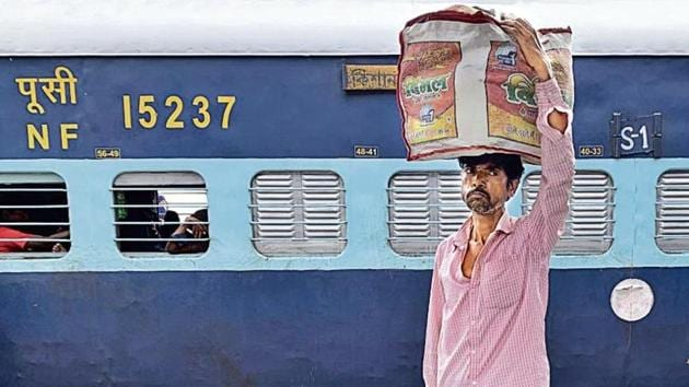 The station is so laidback that it is difficult to spot even a coolie, or porter. There are anyway only six of them—Vishnu, Ajay Tiwari, Ram Kripal, Raju, Sunil and Bhagwan Shah.(Mayank Austen Soofi)