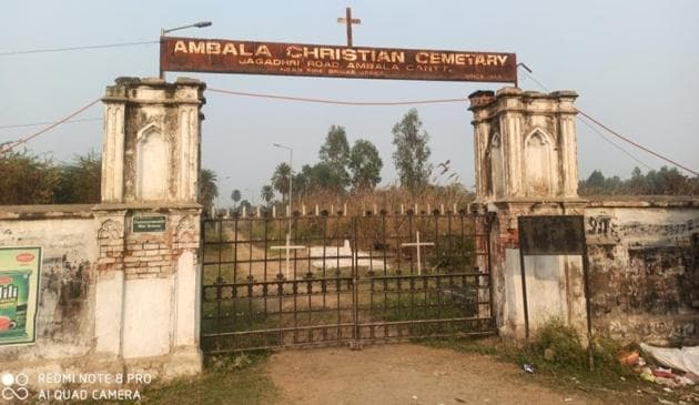 The Christian Cemetery in Ambala Cantonment.(HT Photo)