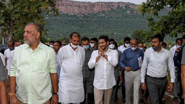 Andhra Pradesh chief minister YS Jaganmohan Reddy.(PTI)