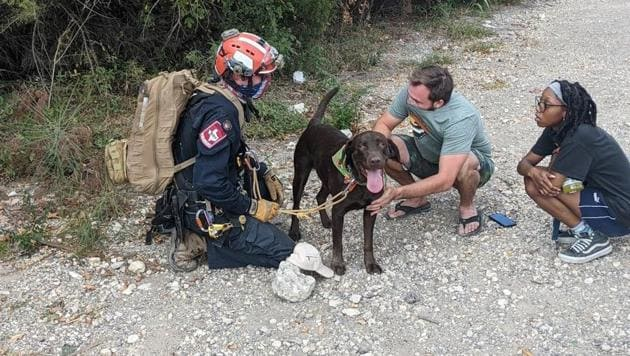 An image from the rescue posted on Facebook.(Facebook/Austin-Travis County Emergency Medical Services)