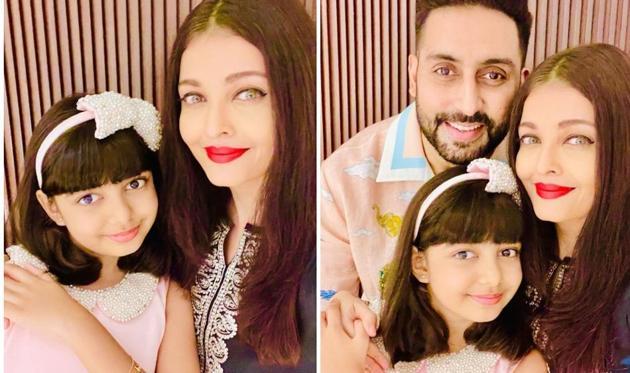 Abhishek Bachchan and Aishwarya Rai Bachchan's daughter Aaradhya turned nine on Monday.