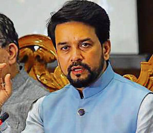 Union minister of state for finance Anurag Thakur urged the chief minister to convene a meeting with the officials concerned and direct them to expedite the process.(HT File Photo)