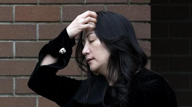 Chief financial officer of Huawei, Meng Wanzhou, leaves her home in Vancouver, British Columbia on November 16, 2020.(AP)